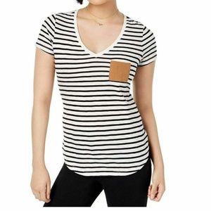 Maison Jules Small Black Striped Tee Shirt 3U63